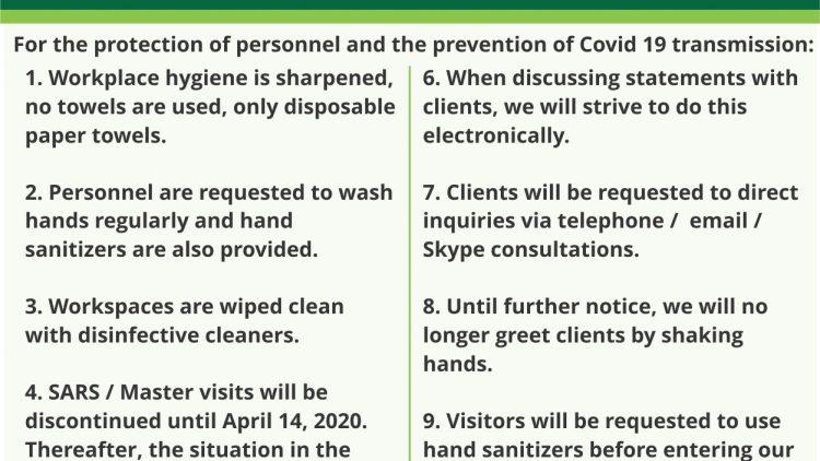 SSRP & COVID-19 Maatreëls / Measures